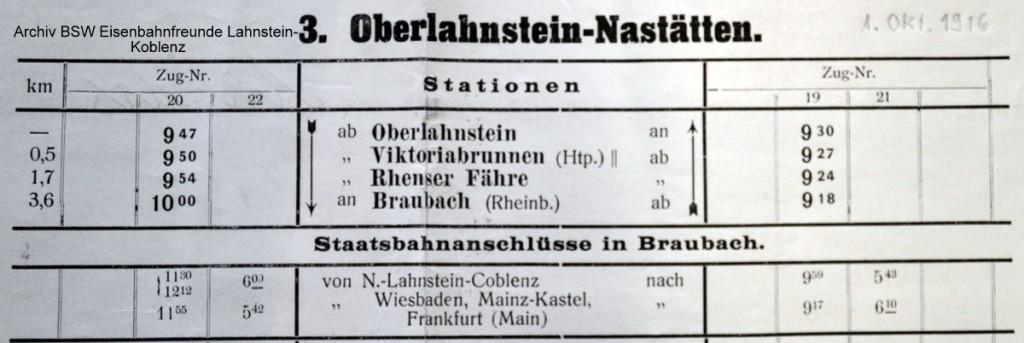 Für MIBA Auszug aus Fahrplan 1916 1.Oktober