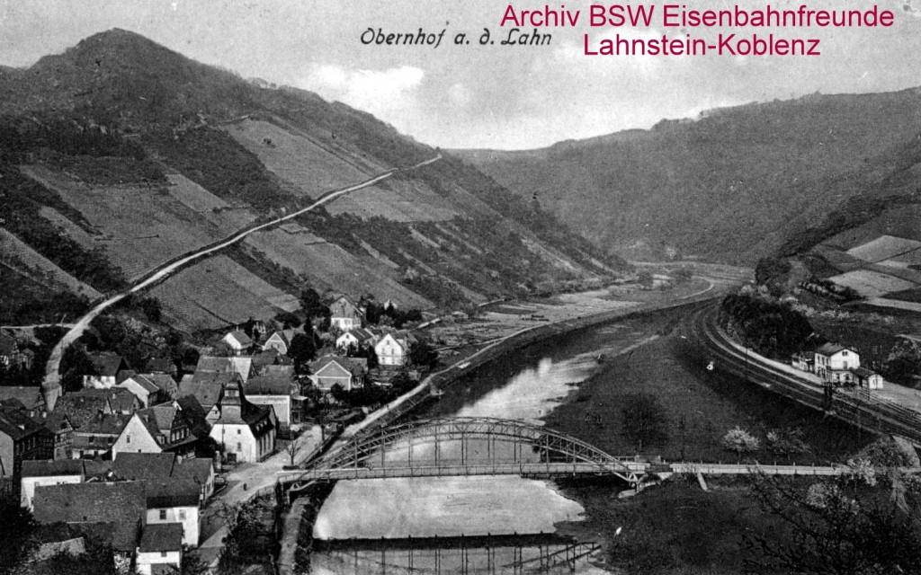 Postkarte Obernhof mit Bahnhof. vor 1945jpg